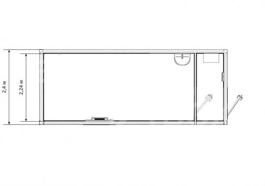 Блок-контейнер комната отдыха с кухней — дополнительное фото 3