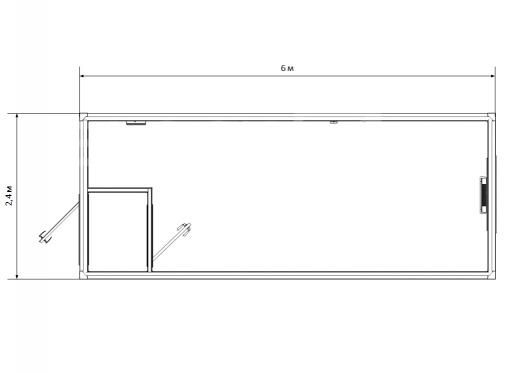 Блок-контейнер №2 из профлиста — дополнительное фото 1