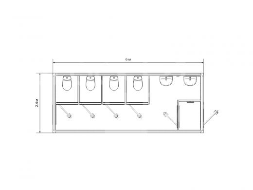 Блок-контейнер №5 сантехнический — дополнительное фото 2
