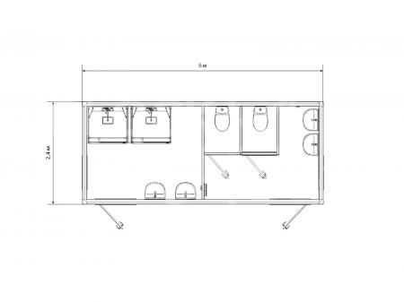 Блок-контейнер №6 сантехнический — дополнительное фото 1