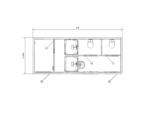 Блок-контейнер №7 сантехнический — дополнительное фото 1