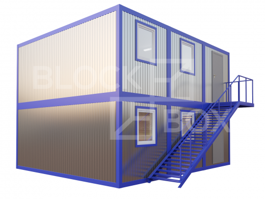 Модульное здание универсальное №6 из профлиста — дополнительное фото 1