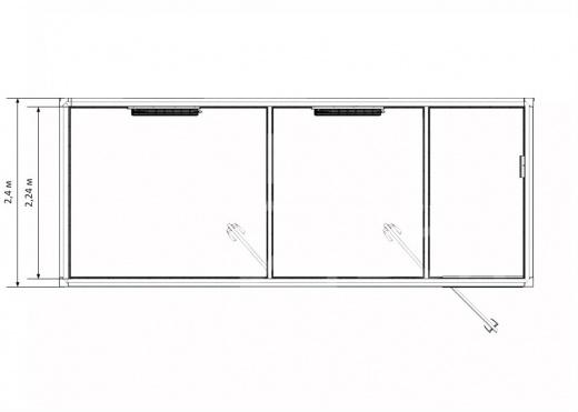 Блок-контейнер прорабская с двумя кабинетами — дополнительное фото 3