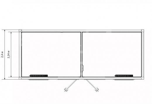 Блок-контейнер прорабская с раздевалкой — дополнительное фото 3