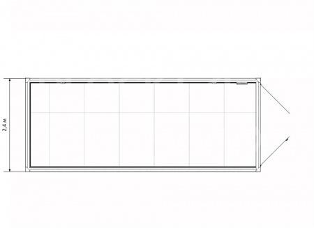 Блок-контейнер склад с воротами — дополнительное фото 3