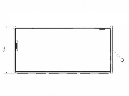 Блок-контейнер торговый павильон с панорамным остеклением — дополнительное фото 3