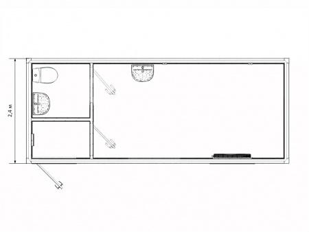 Блок-контейнер медкабинет с санузлом — дополнительное фото 3