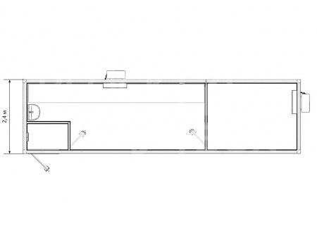 Блок-контейнер — лаборатория с подсобным помещением — дополнительное фото 3