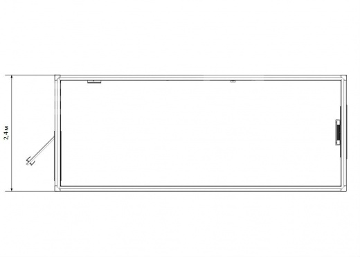 Блок-контейнер универсальный №1 из профлиста — дополнительное фото 1
