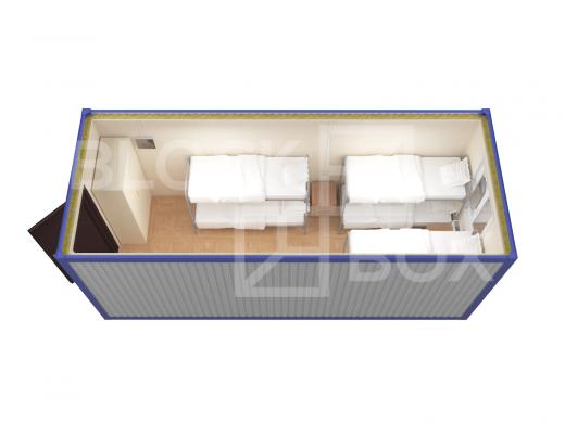 Блок-контейнер универсальный №1 из профлиста — дополнительное фото 4