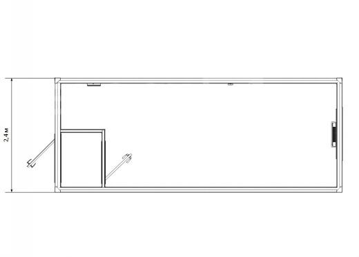Блок-контейнер универсальный №2 из профлиста — дополнительное фото 1