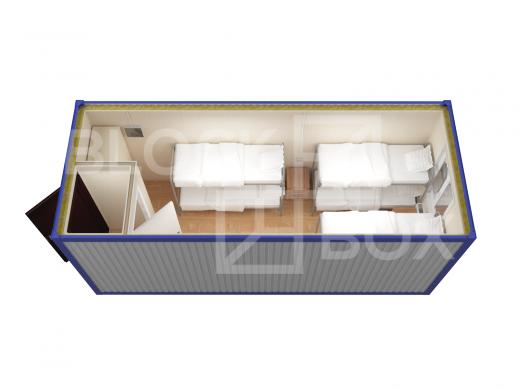 Блок-контейнер универсальный №2 из профлиста — дополнительное фото 4