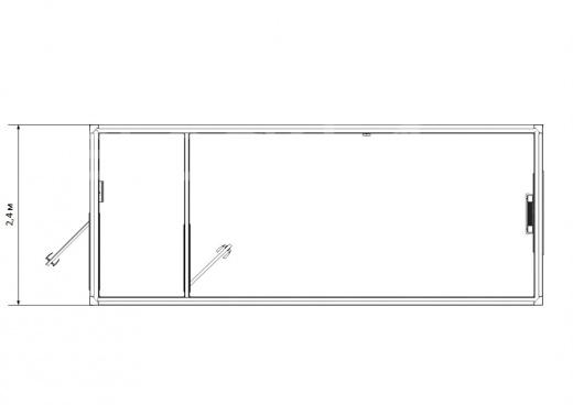 Блок-контейнер универсальный №3 из профлиста — дополнительное фото 1