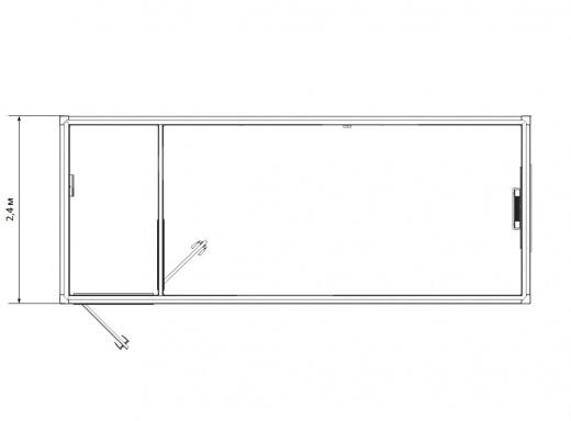 Блок-контейнер универсальный №4  из профлиста — дополнительное фото 1