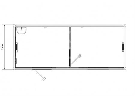 Блок-контейнер универсальный №5 из профлиста — дополнительное фото 1