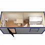 Блок-контейнер универсальный №5 из профлиста — миниатюра 4