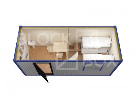 Блок-контейнер универсальный №5 из профлиста — дополнительное фото 4