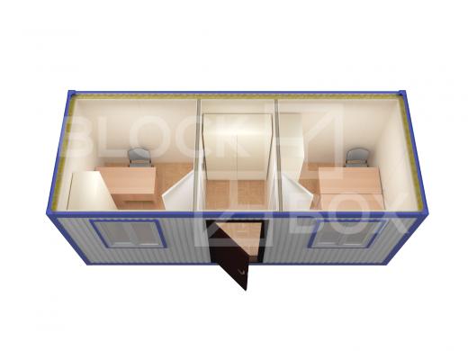 Блок-контейнер универсальный №6  из профлиста — дополнительное фото 4