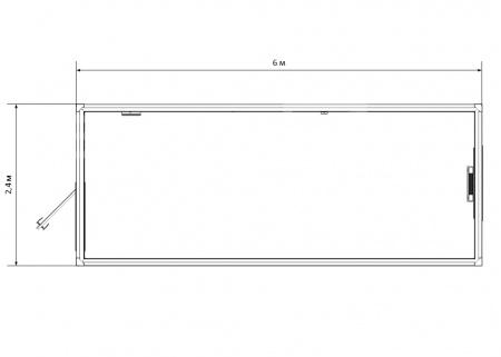 Блок-контейнер №1 из профлиста — дополнительное фото 1
