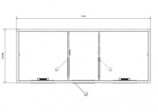 Блок-контейнер №3 из профлиста — дополнительное фото 1