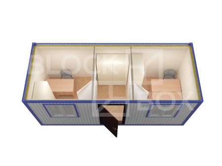 Блок-контейнер №3 из профлиста — дополнительное фото 4