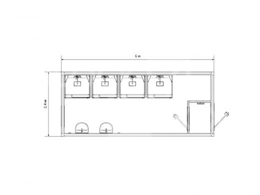 Блок-контейнер №4 сантехнический — дополнительное фото 1
