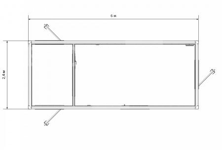 Блок-контейнер №3 из профлиста — дополнительное фото 3