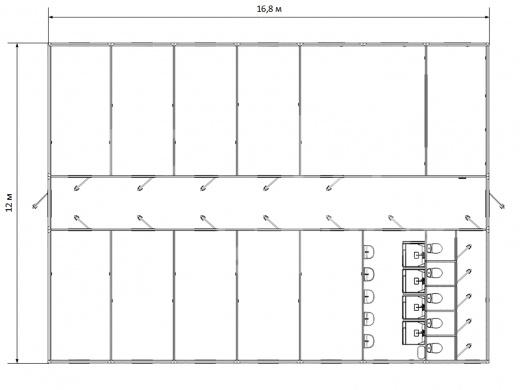 Модульное здание универсальное №10 — дополнительное фото 1