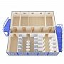 Модульное здание универсальное №11 — миниатюра 3