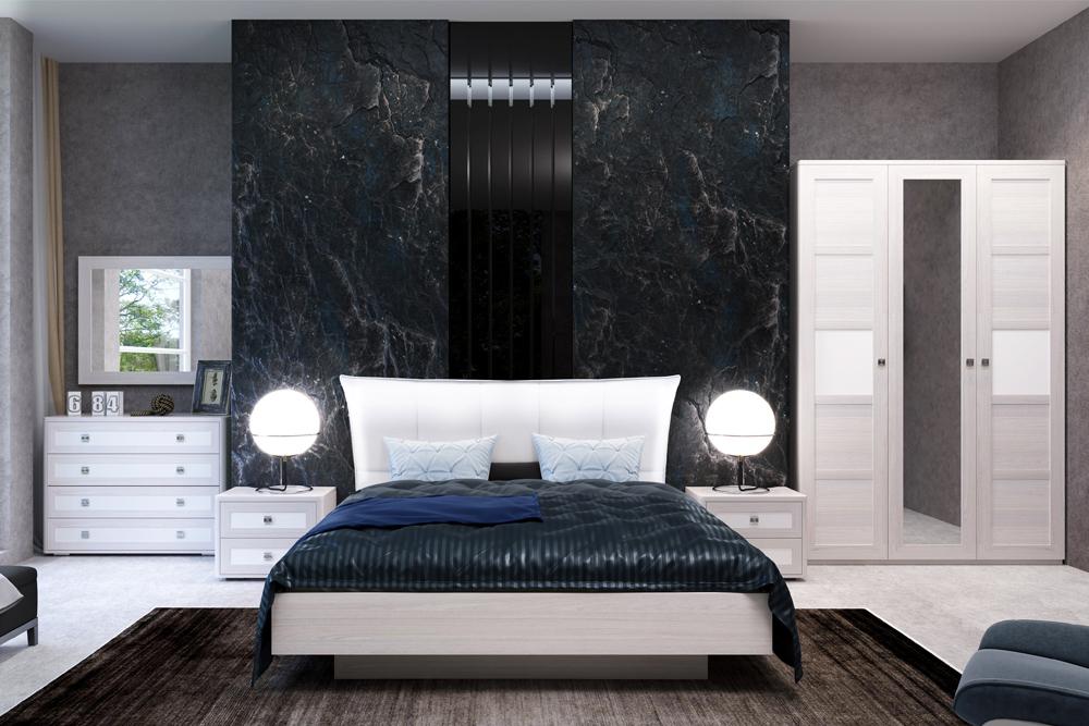 Модульная спальня «ПАРМА НЕО» (комплект 3) Кураж