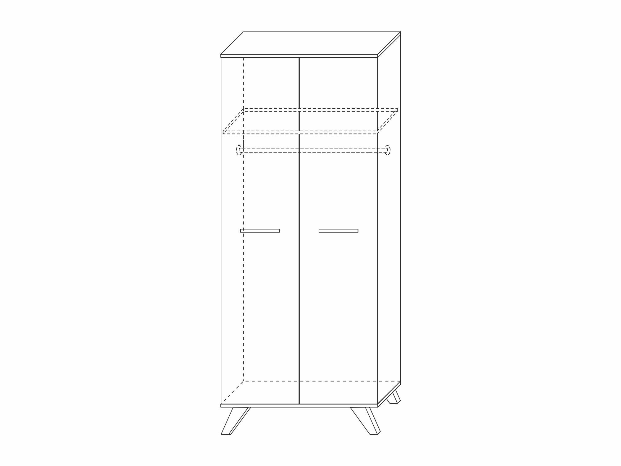 Шкаф для одежды 800 «Вега Скандинавия» (силк флай) Кураж