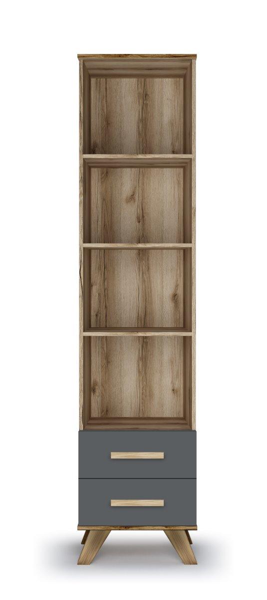 Шкаф-стеллаж 450 «Вега Скандинавия» (силк флай) Кураж