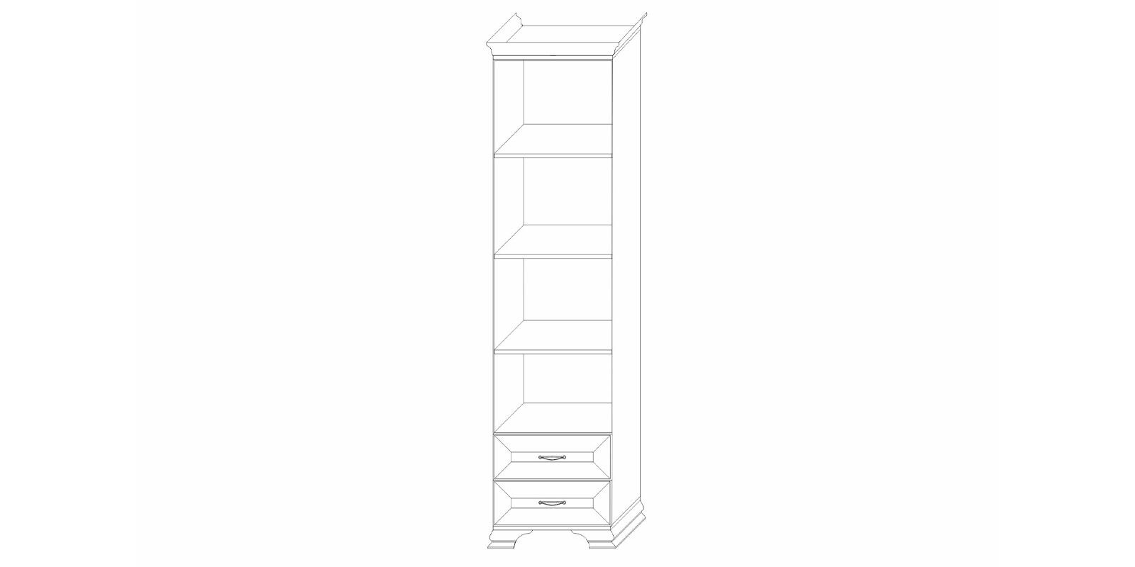 Шкаф-стеллаж 450 «Сиена» Кураж