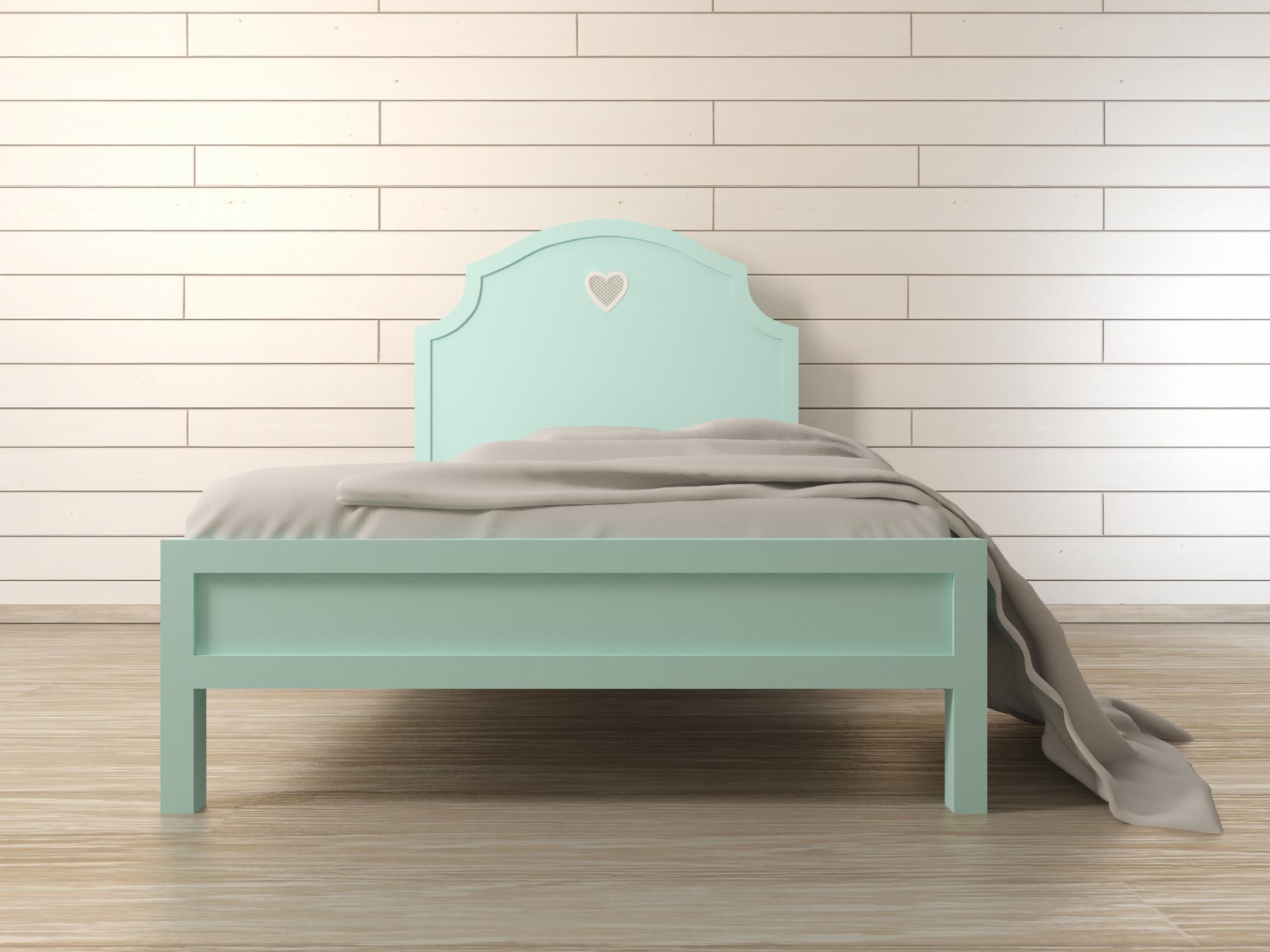 """Кровать в стиле Прованс """"Adelina"""" в мятном цвете Этажерка"""