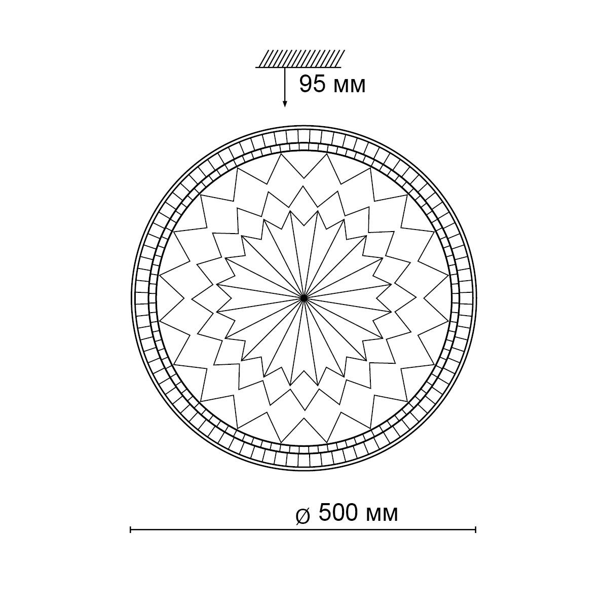 Потолочные светильники 2082/EL DEGIRA Sonex