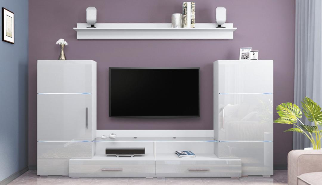 Комплект шкафов с подсветкой «Домино» Bravo