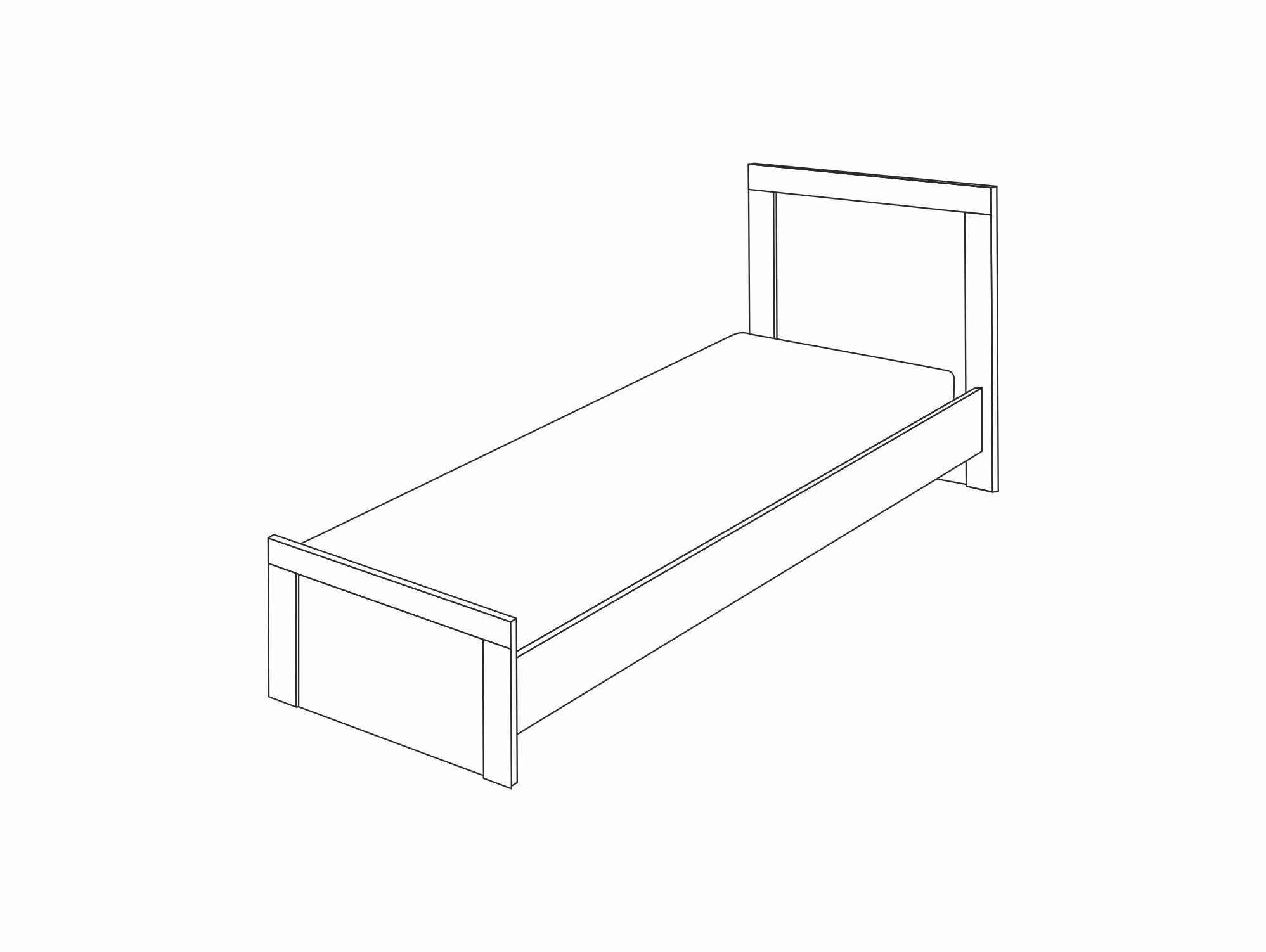 Кровать с ортопедическим основанием 900 «Вега Скандинавия» Кураж
