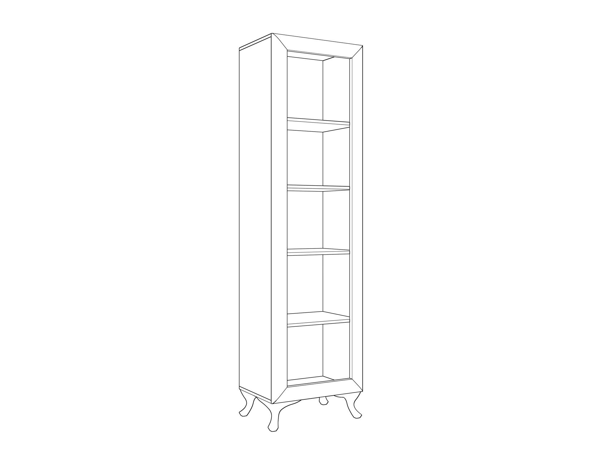 Шкаф (1 дверный) «Модена» Кураж