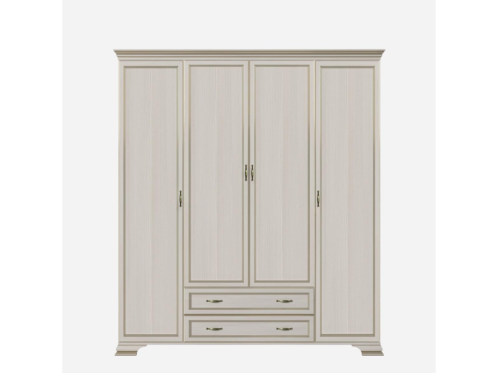 Шкаф четырехдверный (корпус, боковые двери в комплекте) Сиена Кураж