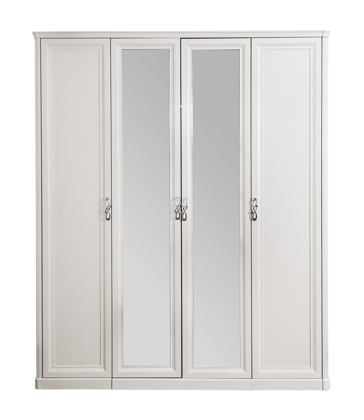 Шкаф четырехдверный с зеркалами «Мишель» ЭРА