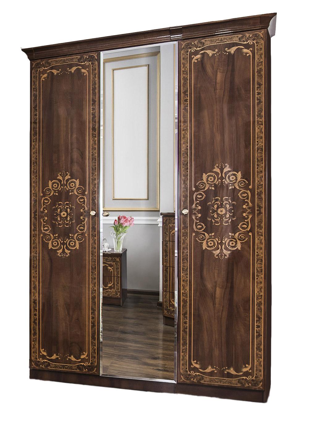 Шкаф трехдверный с зеркалом «Патрисия» ЭРА