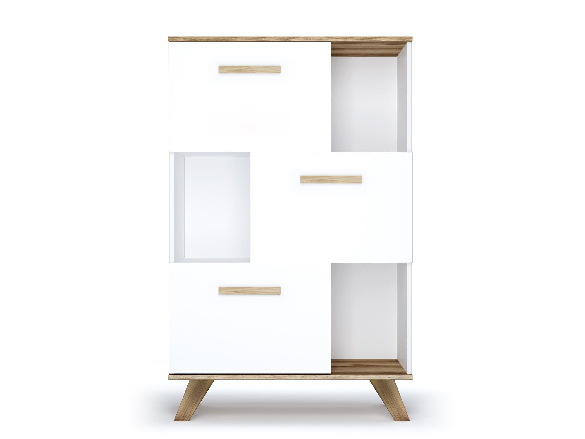 Шкаф низкий с нишами «Вега Скандинавия» Кураж