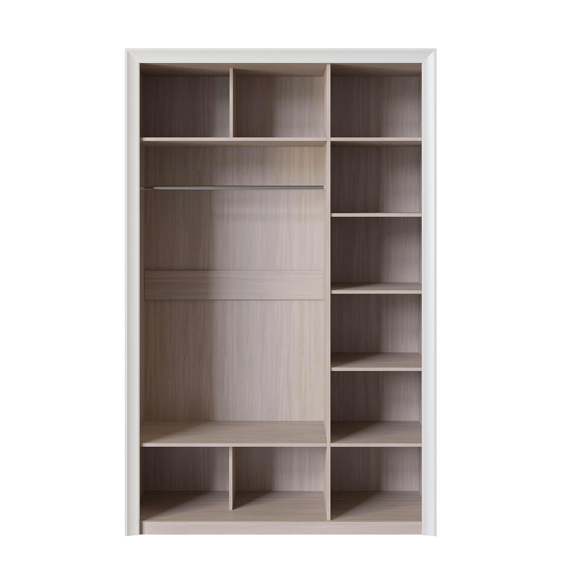 Шкаф трёхдверный (корпус) «Прато» Кураж