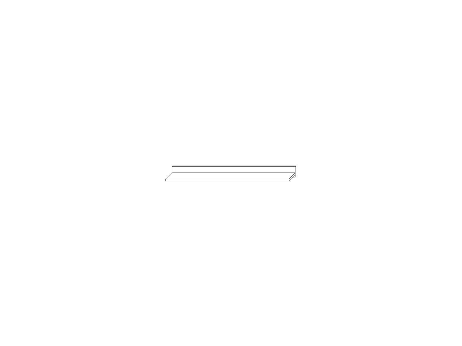 Полка навесная 1556 «Прато» Кураж