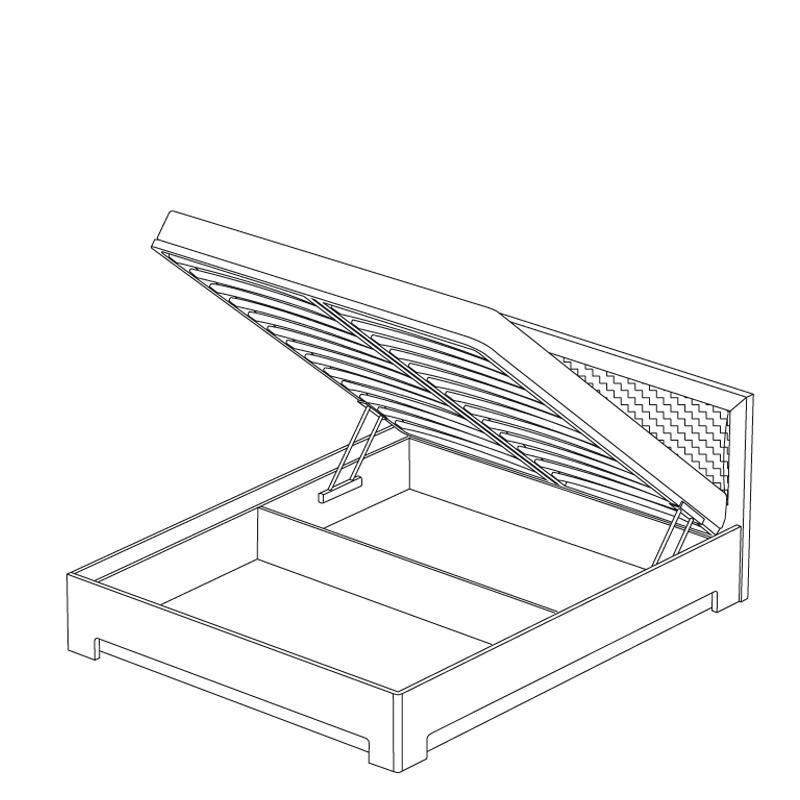 Кровать-1 с подъемным механизмом «ПАРМА НЕО» Кураж