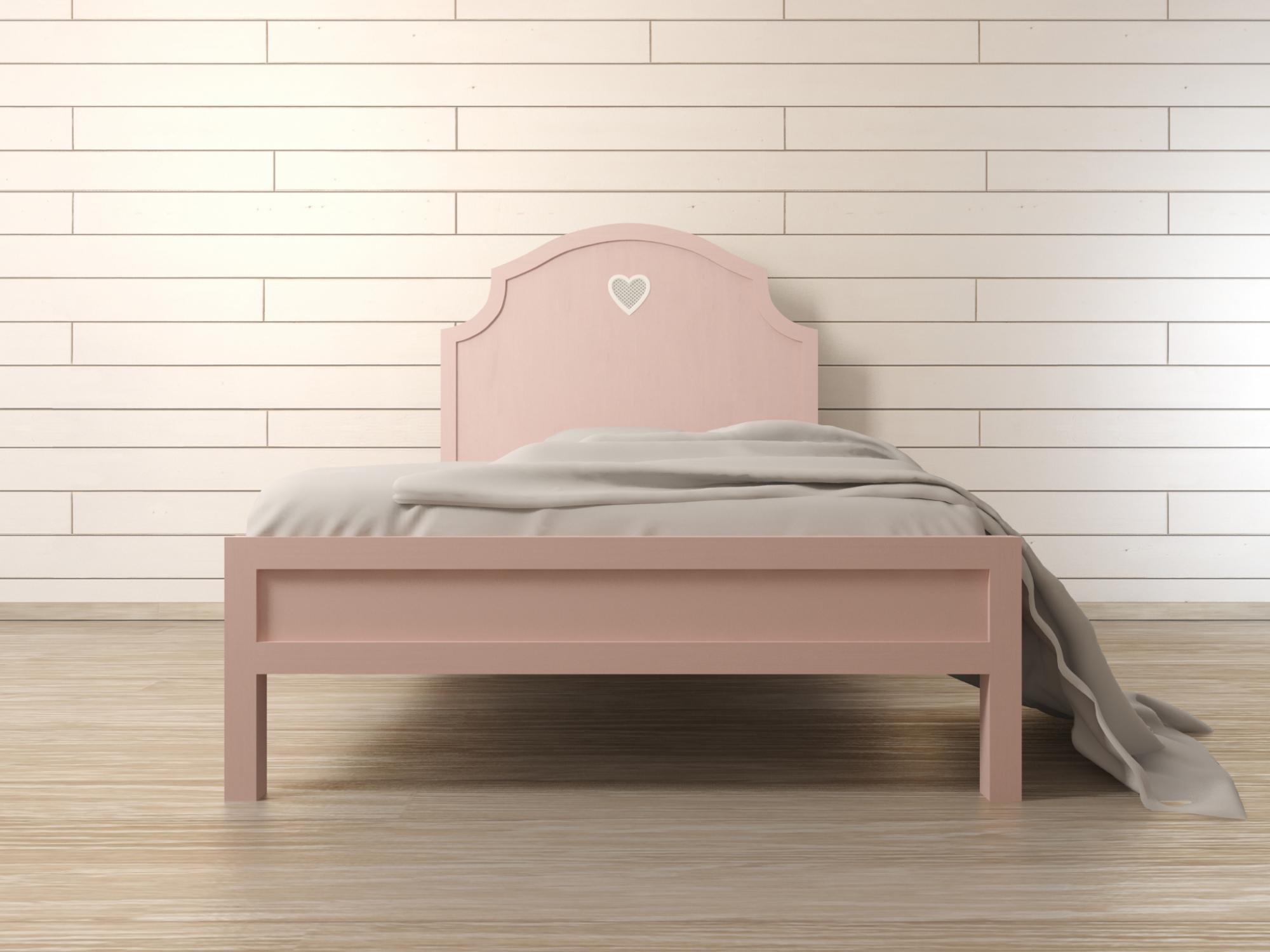 """Кровать в стиле Прованс """"Adelina"""" в розовом цвете Этажерка"""