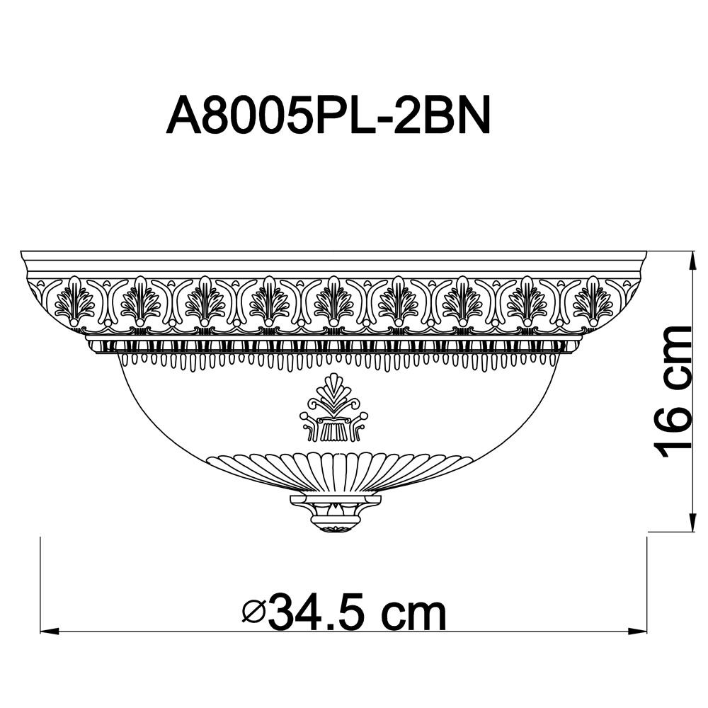 Потолочные светильники A8005PL-2BN Piatti Arte Lamp