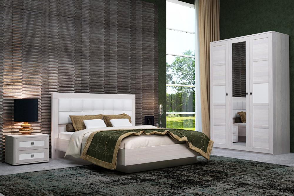 Модульная спальня «ПАРМА НЕО» (комплект 2) Кураж