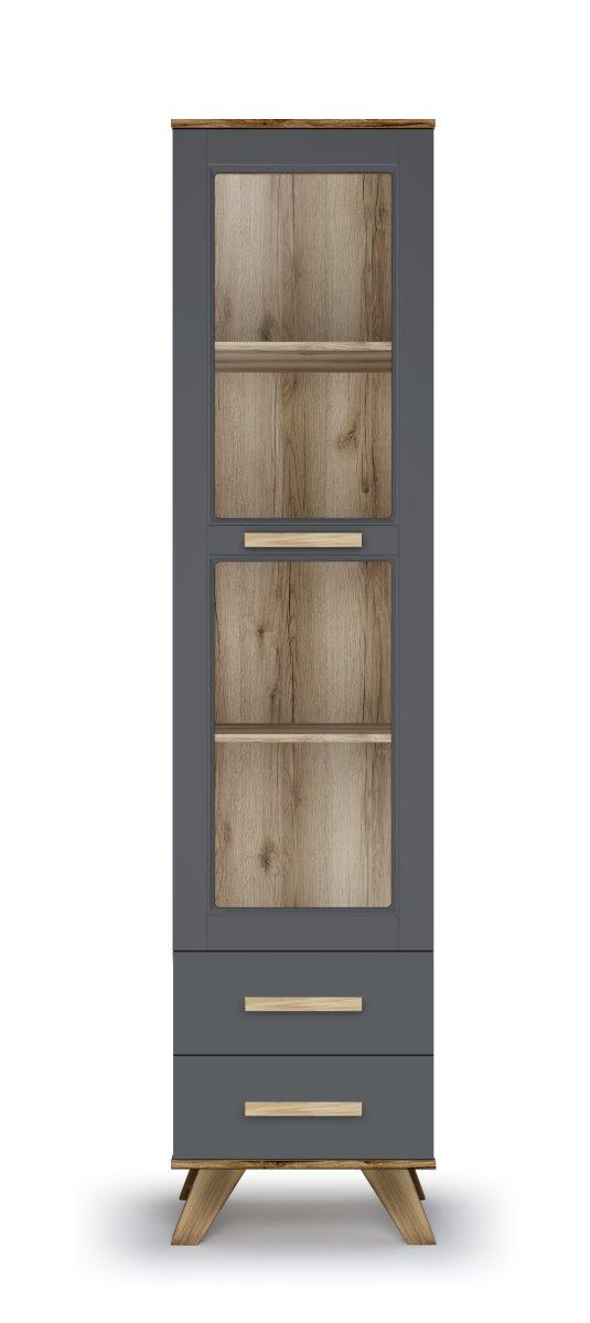 Шкаф-витрина 450 «Вега Скандинавия» (силк флай) Кураж