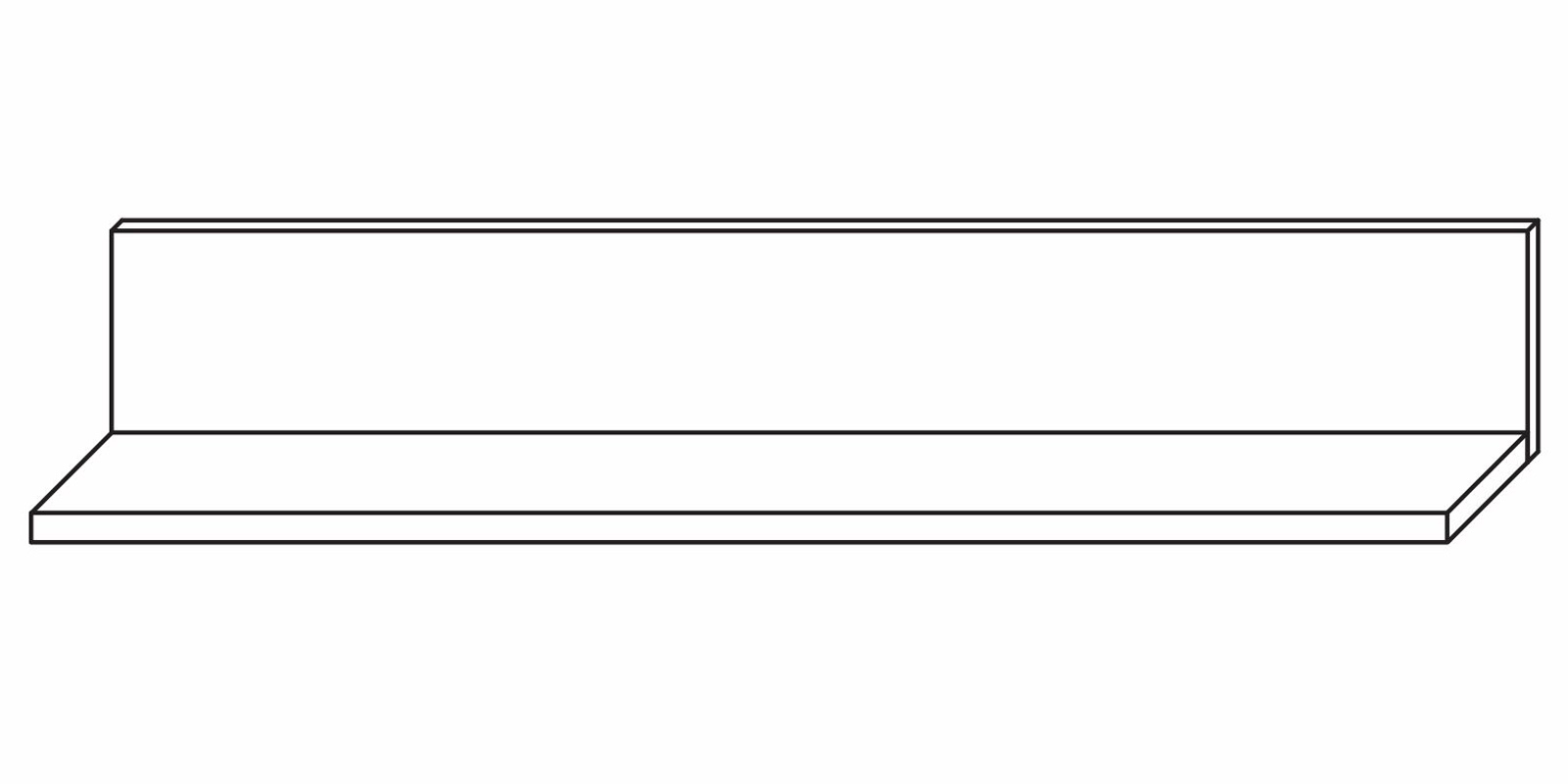 Полка навесная 1050 «Парма Люкс» Кураж